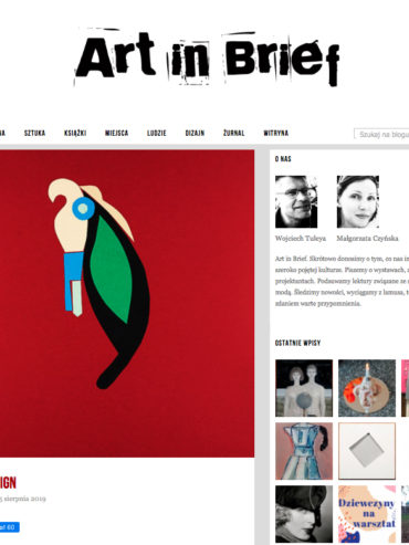 RE DESIGN – ART IN BRIEF 2019